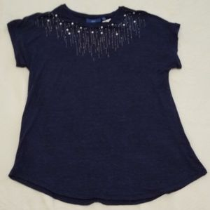Apt. 9 jeweled neck purple tee shirt, size small.
